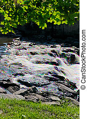 Glittering Stream - River glitters in red, green and blue...