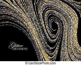 glitters., お祝い, 金, 贅沢, 背景, 光沢がある