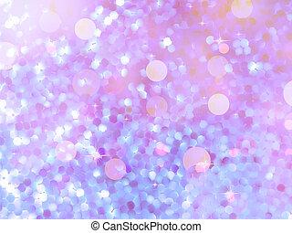 Glitters on a soft blurred background. EPS 10 - Glitters on ...