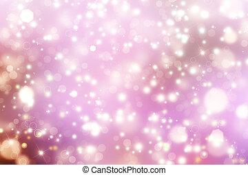 Glittery beautiful bokeh background with stars