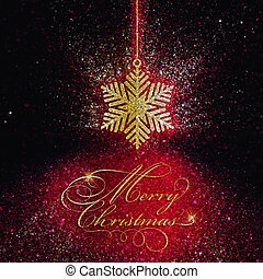 Glittery Christmas snowflake background