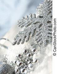 Christmas snowflake - Glittery Christmas snowflake ...