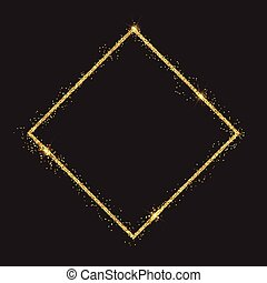 Glittery diamond border background