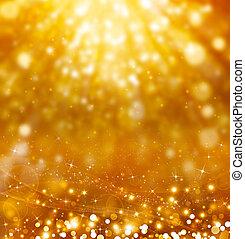 glittery, dorato, festivo, fondo