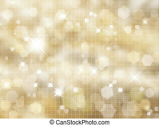 Glittery gold background of halftone dots
