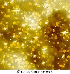 Glittery gold Christmas background. EPS 8