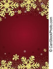 Glittery gold Christmas snowflake background 2611