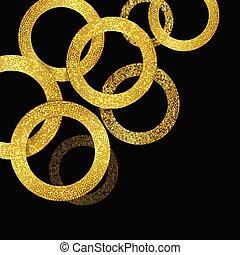 glittery gold circles background 1307