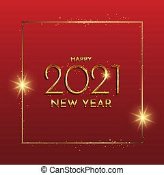Glittery gold Happy New Year background 0312