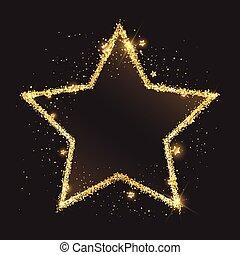 glittery gold star background 2811