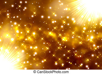 Glittery golden festive background