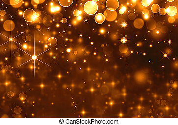 Glittery golden  holiday background
