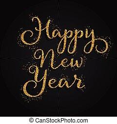 glittery happy new year background 2411