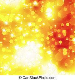 Glittery orange Christmas background. EPS 8