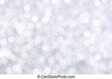 glittery, résumé, éclat, bokeh, fond, blanc