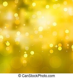glittery, sárga, karácsony, háttér., eps, 10