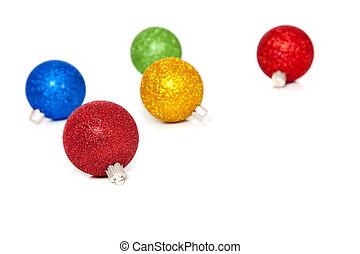glittery, witte kerst, versieringen