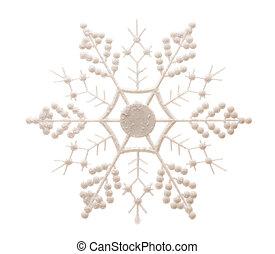 glittery, witte sneeuwvlok, vrijstaand