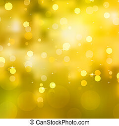 Glittery yellow Christmas background. EPS 10 vector file...