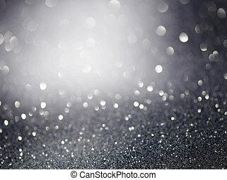 glittrande, lights., jul, silver