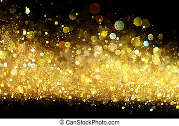 glitzer, gold