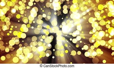 glitzer, light., loop., gold