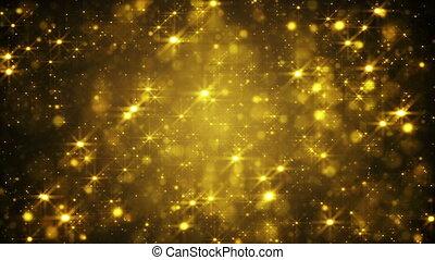 glitzern, schleife, goldenes, zurück, staub