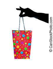 Glitzy Christmas Gift Bag