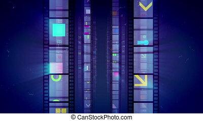 """""""Glitzy Vintage Retro Film Tape Advance """""""