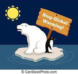 globális, abbahagy, melegítés