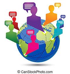 globális, connectivity
