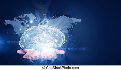 globális, gondolkodó