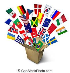 globális, hajózás, szolgáltatás