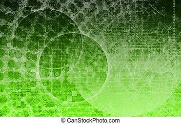 globális, média, technológia, világ, gömb