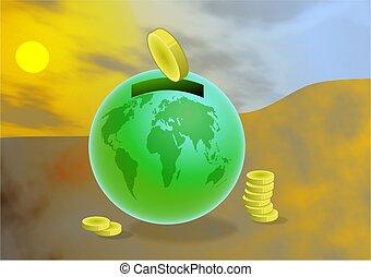 globális, megtakarítás