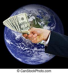 globális, pénz