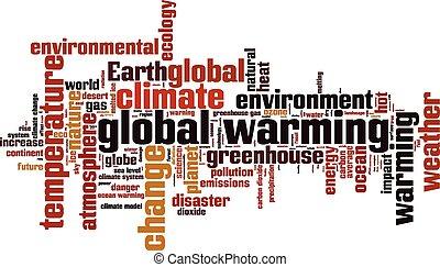 globális, szó, melegítés, felhő