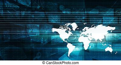 globális, technológia