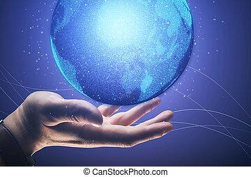 globális, technologies, fogalom