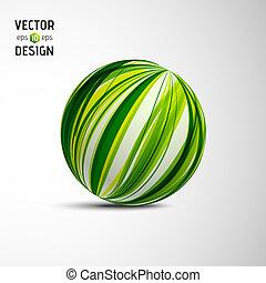 glob, abstrakt, vektor