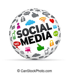 glob, social, media