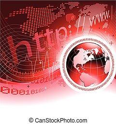 globaal, concept, communicatie