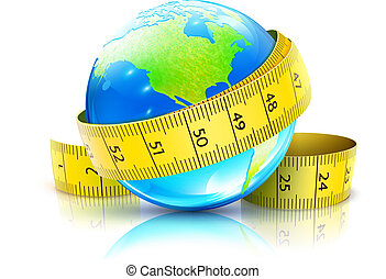globaal, concept, dieet