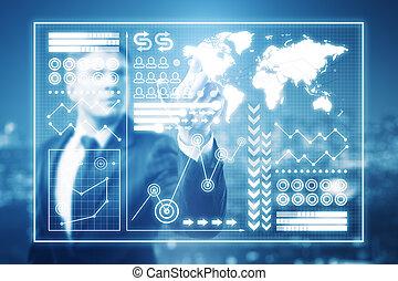 globaal, concept, zakelijk