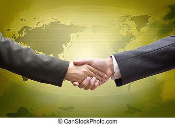 globaal, delen, goud