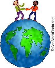 globaal, delen