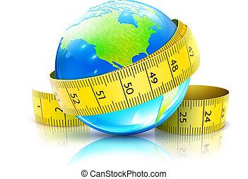 globaal, dieet, concept