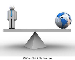 globaal, evenwicht