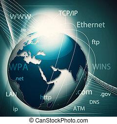 globaal, informatie net, abstract, techno, achtergronden