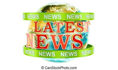 globaal, laatst, nieuws, animatie, concept, 3d, vertolking